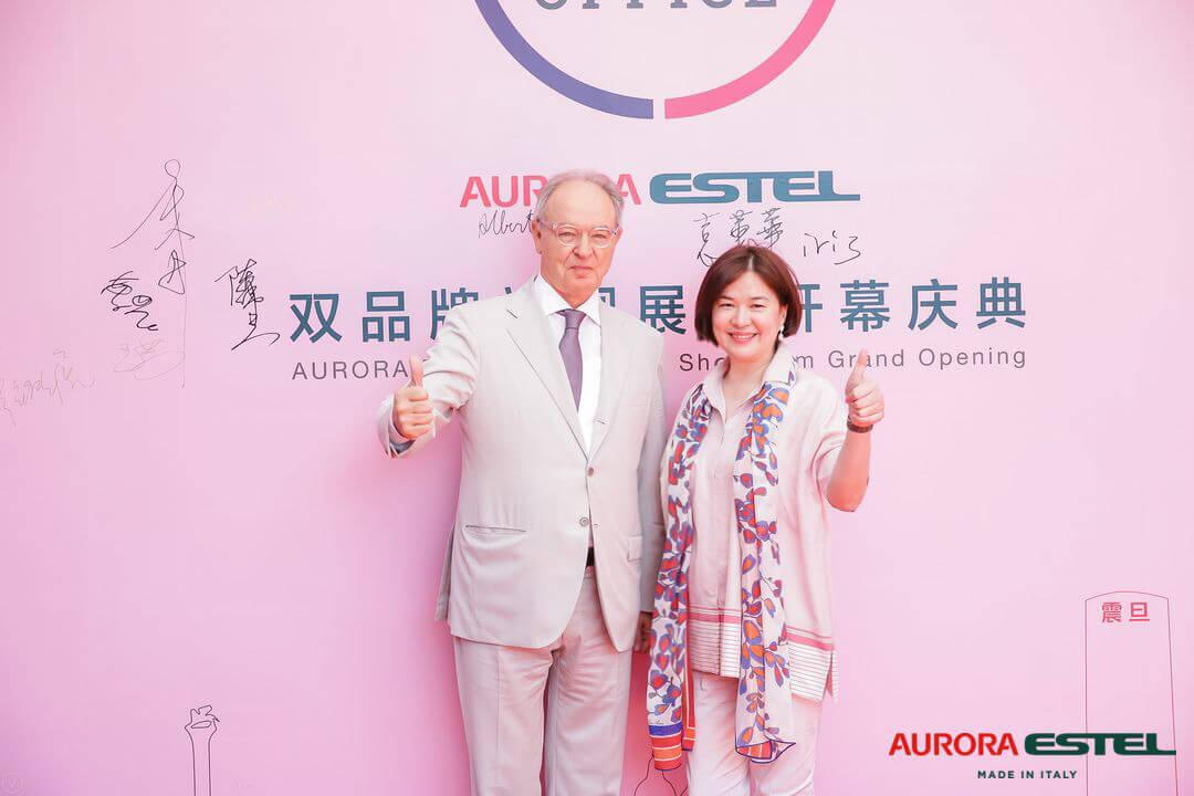 左:ESTEL集团董事长Alberto Stella   右:震旦集团董事长袁蕙华