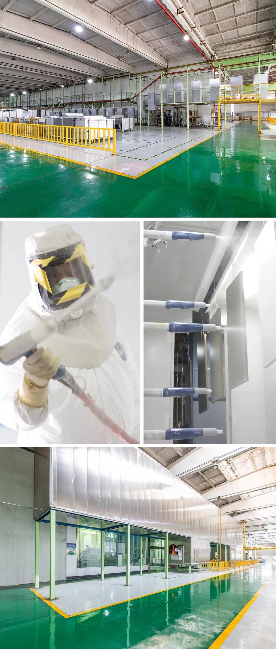 震旦钢厂:粉喷涂装线