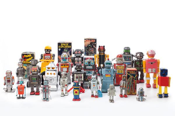 各式机器人玩具形塑人们对於未来生活的想像