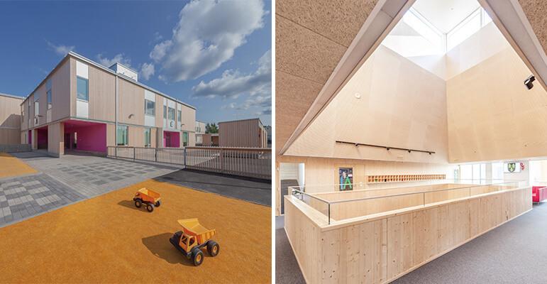 北欧在木建筑浪潮中处于开明的前锋位置,像是芬兰的Tuupala学校与托儿所,便以舒适明亮的木构建筑,为孩子营造宜人的成长与游戏环境。