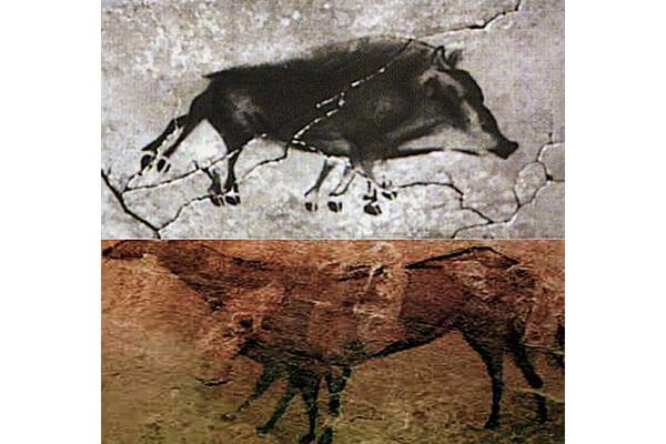 图一:西班牙阿尔塔米拉(Altamira)山洞岩画,距今2-3万年。
