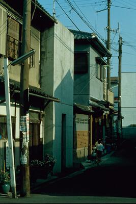 图三:住吉的长屋,日本大阪,1975-1976,摄影:安藤忠雄