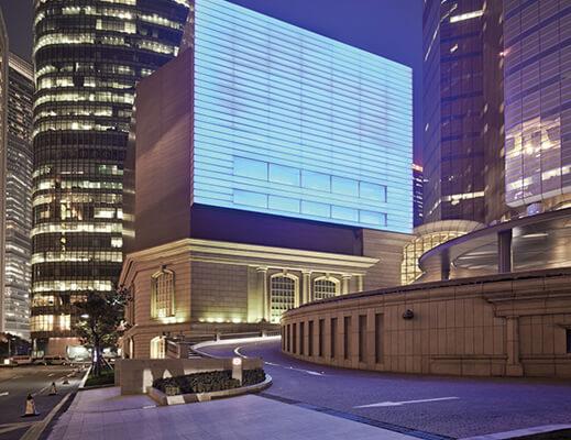 图五:震旦博物馆夜景外观